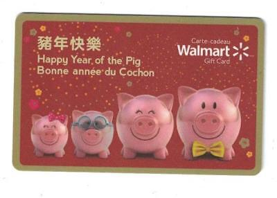 "Walmart 2019 "" HAPPY YEAR OF THE PIG "" Gift Card"