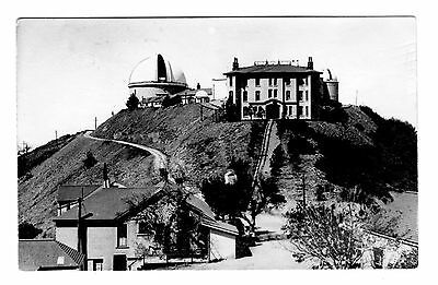 Antique B&W Postcard Lick Observatory, Mt. Hamilton, California