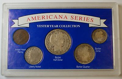 """Americana Series: Yesteryear Collection"" W/ Silver Half, Quarter, Dime"