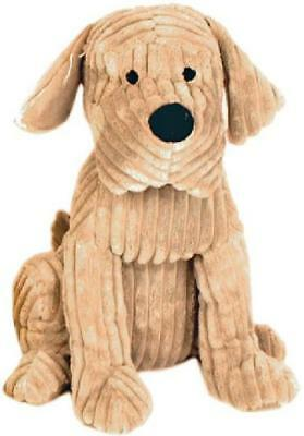 Large Heavy Ribbed Plush Fabric Dog Puppy Door Stop Home Office Tan