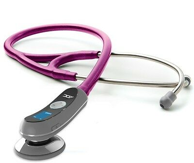 NEW ADC Adscope Model 658 Electronic Digital Stethoscope METALLIC RASPBERRY