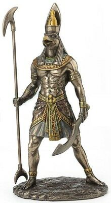 Horus Egyptian God Holding Scepter and Sword Statue Sculpture Figurine