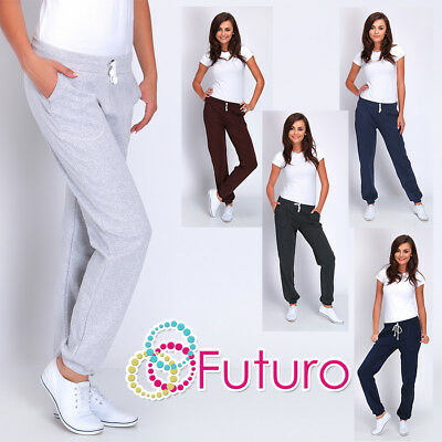 Womens Sports Loose Fit Pants with Pockets Yoga Gym Joggers Bottoms Running DK