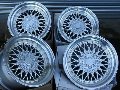 "16"" SILVER RS ALLOY WHEELS FITS 4x100 AUDI BMW CHEVROLET CITROEN DACIA DAIHATSU"