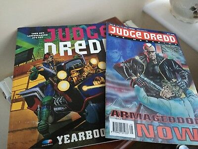 Judge Dredd Yearbook 1992 and  JUDGE DREDO THE MEGAZINE ARMAGEDDON NOW 6 JUL 92