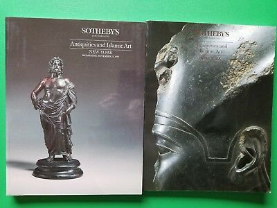 2 Sotheby's NY catalogs: ANTIQUITIES & ISLAMIC ART 11/29/89 & 06/08/94 AS IS