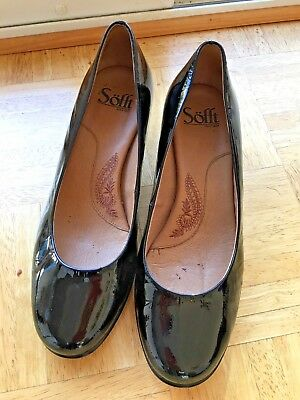 5dc9ce94ecd FOREVER 21 BLACK Faux Patent Leather Slip On High Heel Pumps Women s ...