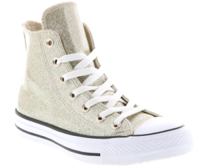CONVERSE ALL STAR Chuck Taylor Glitter Ox Light Twine Gold white ... 3feef451c