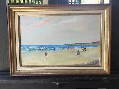 Donald Fraser Sunday StrollFramed Painting