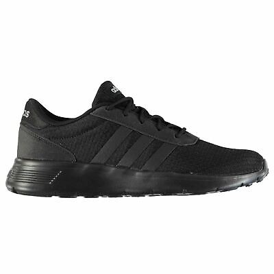 separation shoes 6ff92 cd052 adidas Lite Racer Trainers Mens Black Athletic Sneakers Shoes