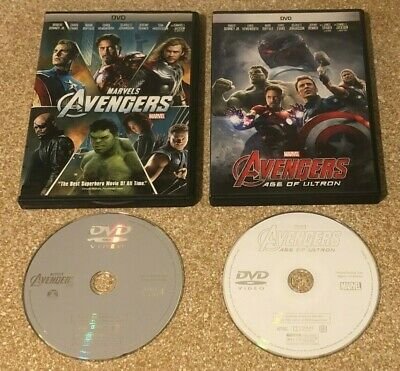 Marvel The Avengers + Avengers Age of Ultron (DVD, 2012, 2-Disc Set) Movies Lot