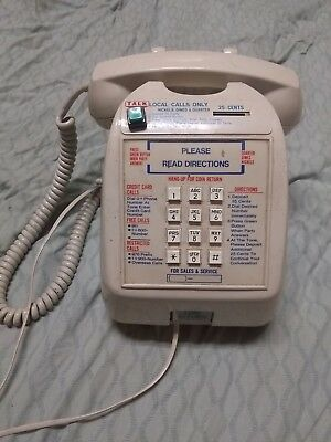 Vintage Pay Phone Model 727 Coin Operated Table Top Telephone