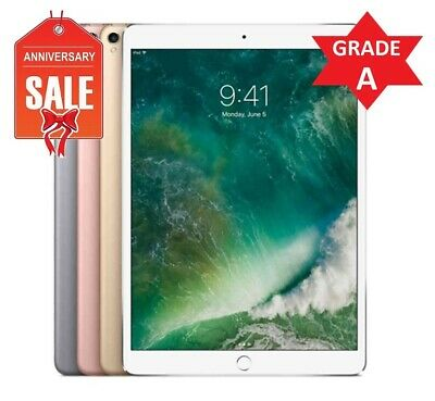 "Apple iPad Pro 10.5"" Wifi or Cellular, 64GB 256GB 512GB - Gray Silver Gold Rose"