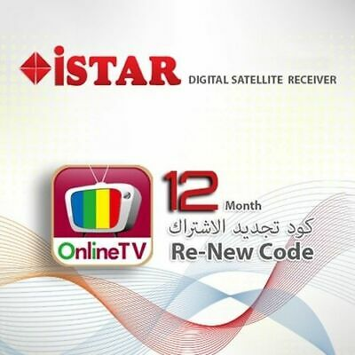 Istar Korea Code ONE YEAR  for ALL istar Models ONLINE TV Subscription *GOLD*