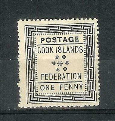 Cook Inseln   Cook   Islands   Australia   Victoria   1892   One   Penny   Mh