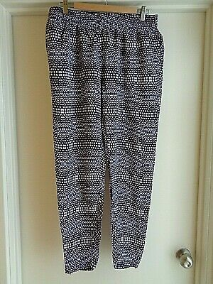 Witchery Printed Viscose Pants, Size 12 AS NEW