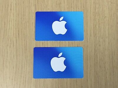 Apple Store & Itunes Gift Cards $50 X 2 Total $100