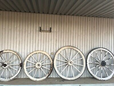 Antique Iron / Wood Wagon Wheels