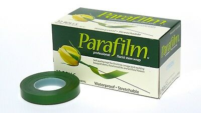 3 x Parafilm - Professional Florist Stem Wrap Tape Waterproof Stretchable Green