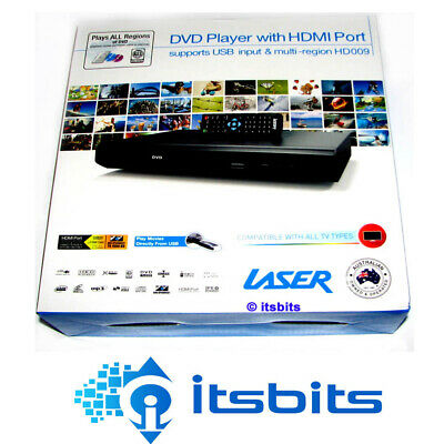 Laser Dvd Hd009 Hd Dvd Player Hdmi + Rca Output + Remote + Usb Port Multi Region
