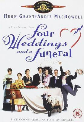 Four Weddings and a Funeral (DVD, 2001) Hugh Grant in Classic Rom Com
