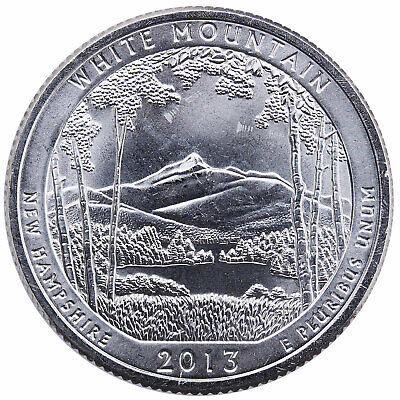 2013 S Parks Quarter ATB White Mountain National Forest BU CN-Clad US Coin