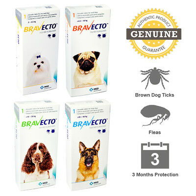 BRAVECTO GENUINE by MSD ANIMAL HEALTH - 12 Weeks Full Protection - FREE SHIPPING