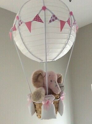 Elephant hot air balloon nursery light shade,