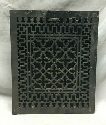 Antique Cast Iron Gothic Heat Grate Floor Register 12X15 Vintage Old 170-19C