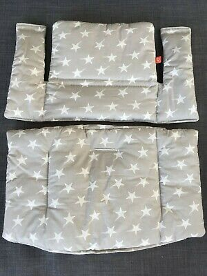 Stokke Tripp Trapp Grey Star Cushion Set - Excellent Condition - used once!