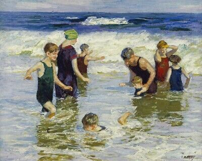 Wall-Art-PRINT-Potthast--Edward-Henry-The-Bathers-Poster-or-Canvas-Fine-Art