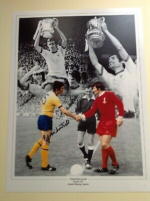 """Arsenal Legend Frank McLintock-  Hand Signed 16"""" X 12"""" picture With COA"""