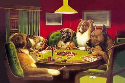 Dogs Playing Poker Art Hot P-617 24x36 14x21 Poster QUALITY CANVAS ART PRINT