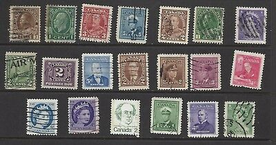 CANADA, lot of 20 old used stamps, see scan