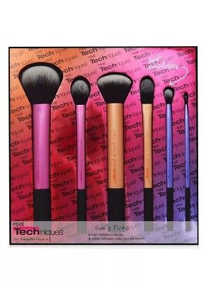 Real Techniques Sam's Picks 6pcs Makeup Brushes Powder Blush Foundation Set
