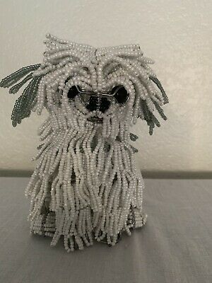 Beadworx Beaded White Maltese Dog Sculpture