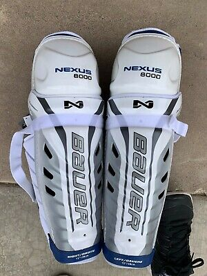 369b1fafa9e BAUER NEXUS 8000 Ice Hockey Shin Guards - Sr. 15