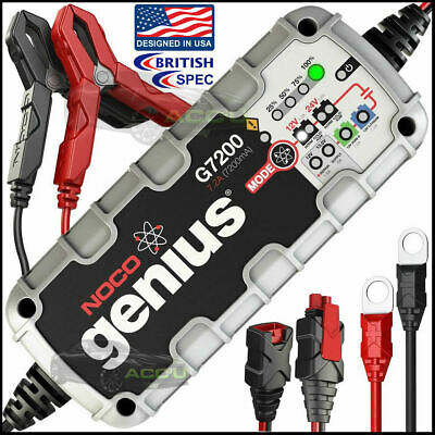 NOCO Genius G7200UK 12v 24v 7.2A Car Automatic Smart Battery Charger Maintainer
