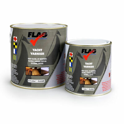 Flag Paints Yacht Varnish Tough Flexible UV Resistant | Satin and Gloss Finishes
