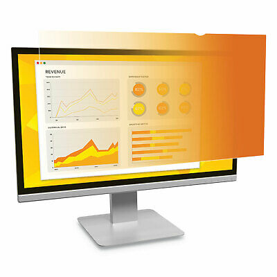 """3M Frameless Gold Privacy Filter, For 24"""", Widescreen, Monitors, 16:9 Aspect"""