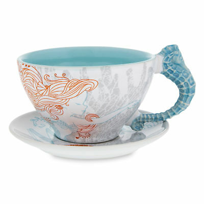 Disney Parks Exclusive Ariel The Little Mermaid Cup and Saucer Set Coffee Tea