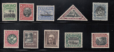 Liberia # 115-24 MINT Complete 1909-12 Set.