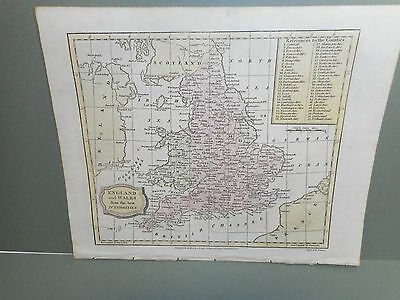 100% Original England/wales Map By Barlow C1808 Vgc Low Postage Original Colour