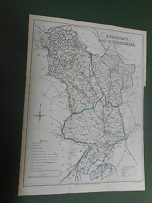 100% Original Large Derbyshire Map By Bemrose  C1876 Vgc