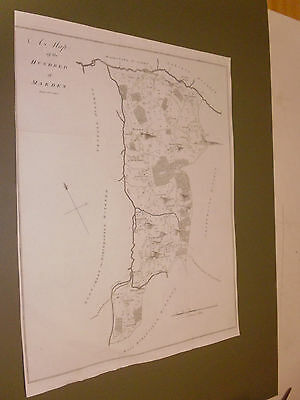 100% Original Large Marden Hundred Kent Map By Hasted C1790