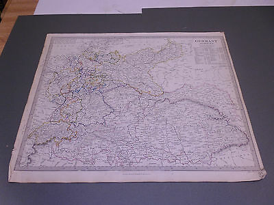 100% Original Germany Map  By Walker/sduk C1832 Vgc