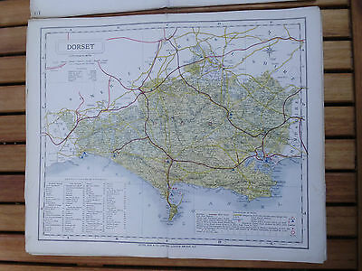 100% Original Dorsetshire Map By Letts C1884 Railways  Low Postage Uk