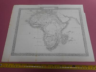 100% Original Africa Map By Rapkin/tallis C1865 Vgc