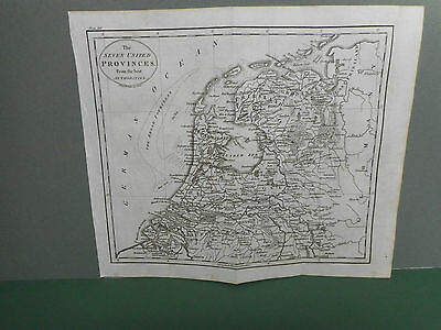 100% Original Holland 7 United Provinces Map By Guthrie C1806 Vgc