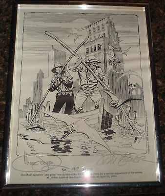 """Will Eisner & Mark Schultz Dual Signature """"Jam"""" Print SIGNED by BOTH ARTISTS"""